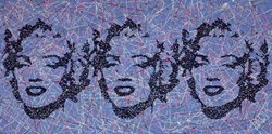 Monroe 3 by Jim Dowie - Original Painting on Box Canvas sized 39x20 inches. Available from Whitewall Galleries